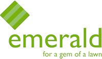 Emerald lawn care logo